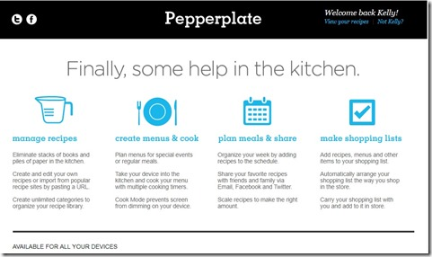 Pepper Plate Home Page