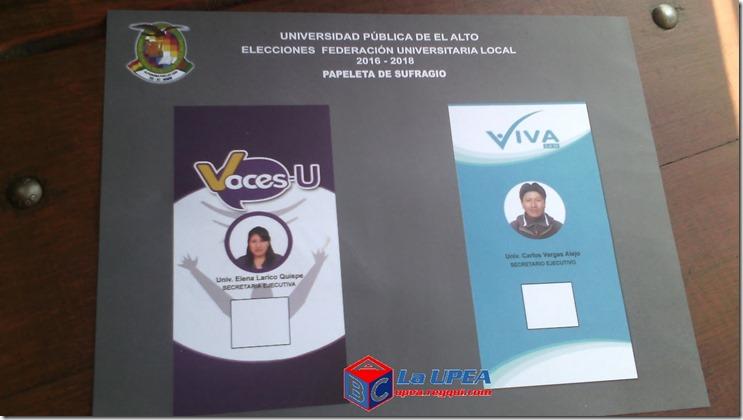 Elecciones para la FUL en la UPEA