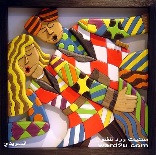 بورتريهات من خشب لوحات فنيه