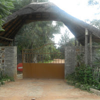 Gate at front of house