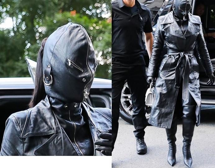 Kim Kardashian rocks head-to-toe leather outfit to New York Fashion Week (photos)