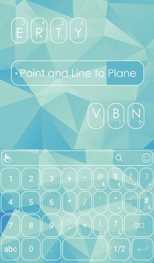 Poly Triangle Cyan Keyboard