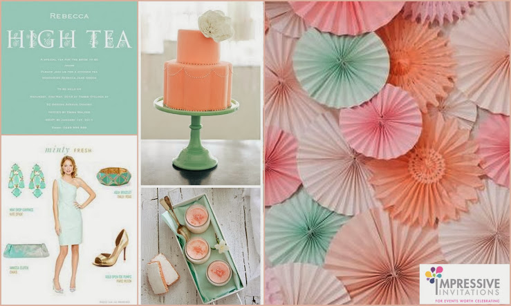 Party Inspiration Board is for a High Tea Bridal Shower.