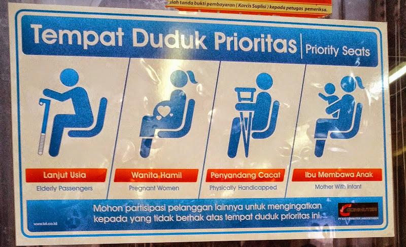 Tempat Duduk Prioritas di Commuter Line