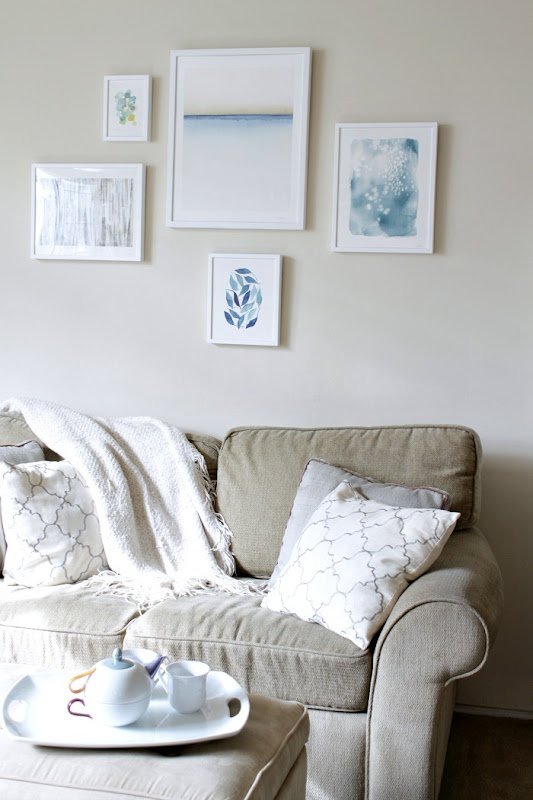 Minted Wall Gallery Neutral and Blue