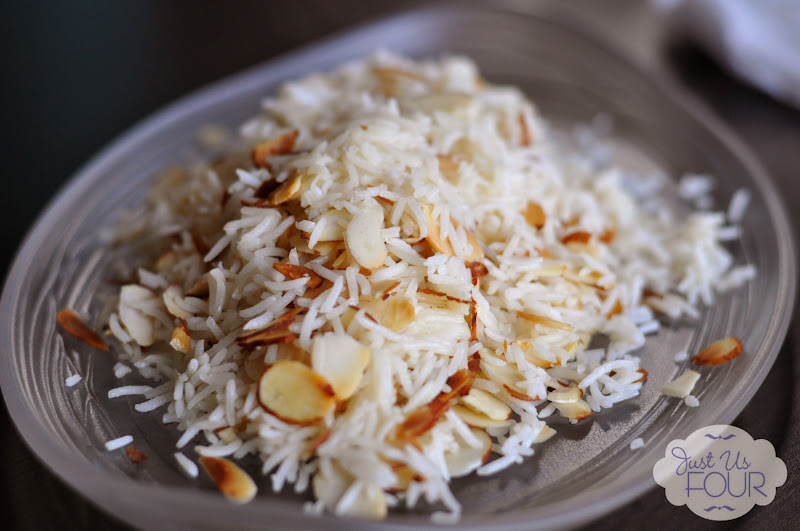 Easy Yogurt Marinated Chicken with Almond Basmati
