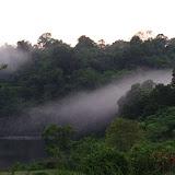Brume matinale sur Saut Athanase, 6 novembre 2012. Photo : J.-M. Gayman
