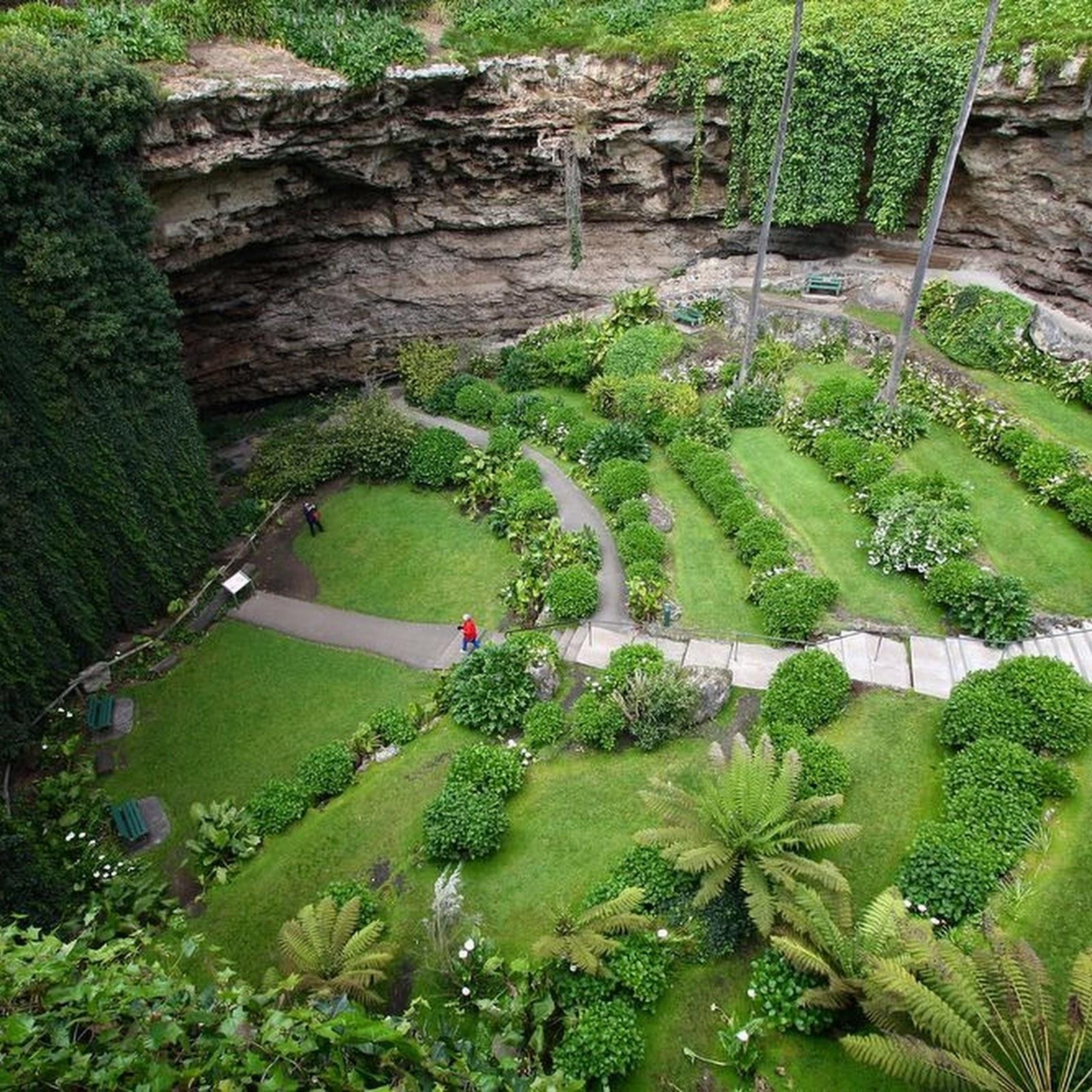 A Garden In A Sinkhole