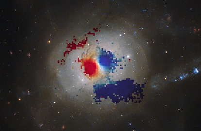 VLT map of gas within NGC 7252's minispiral