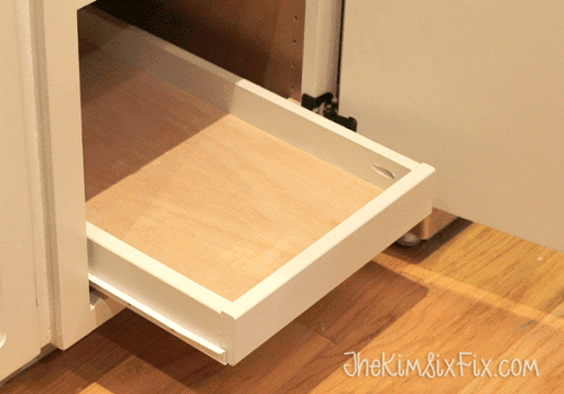 ... DIY Pull Out Shelf In Cabinet