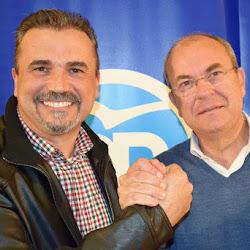 Monago presentó al candidato del PP a la Alcaldía de Puebla de la Calzada, Julio Pampano