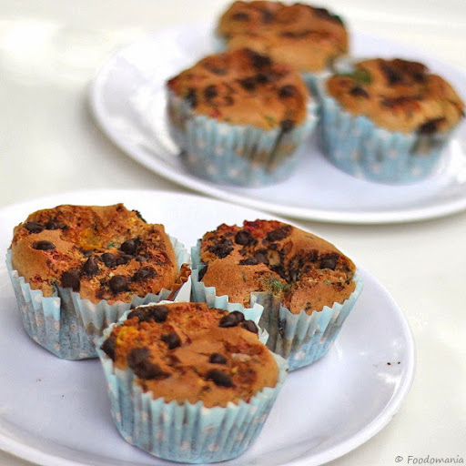 Almond Butter Chocolate Chip Cupcakes Recipe  Healthy, Eggless (Vegan)