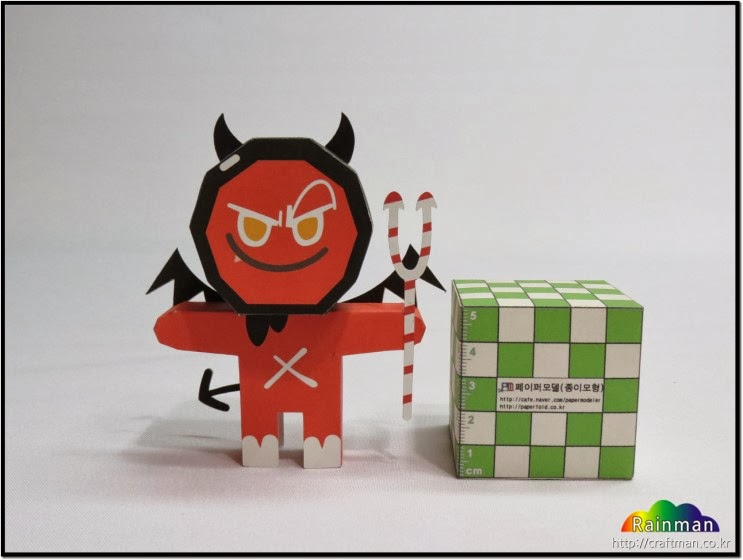 Devil Cookie Papercraft