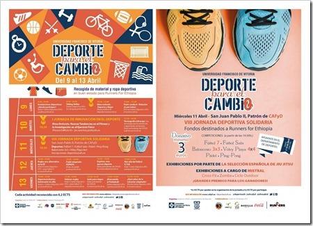 III Semana del Deporte para el Cambio del 9 al 13 de abril organizada por CAFyD en la Universidad Francisco de Vitoria.