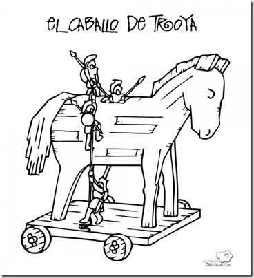caballo de troya colorear