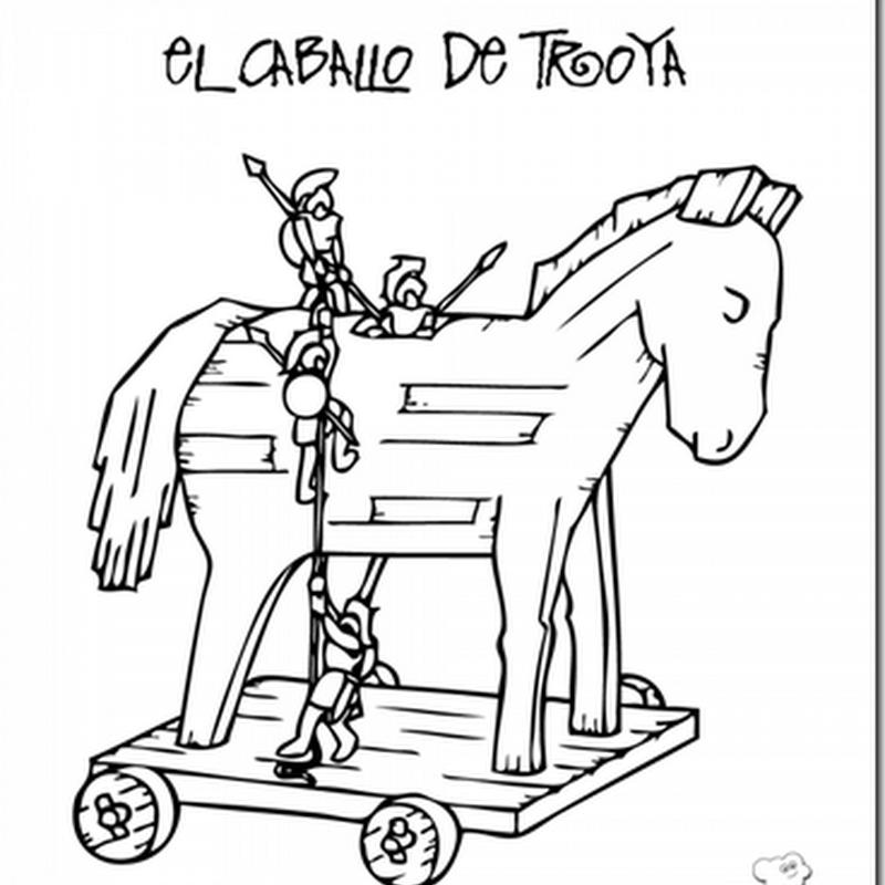 colorear caballo de Troya