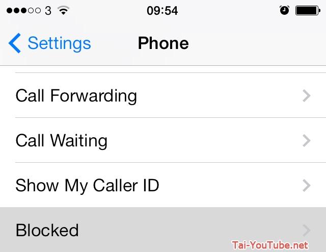 Hình 9 - Hướng dẫn cách chặn cuộc gọi, tin nhắn trên iPhone