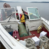 Preparing to cross the Manicouagan Reservoir