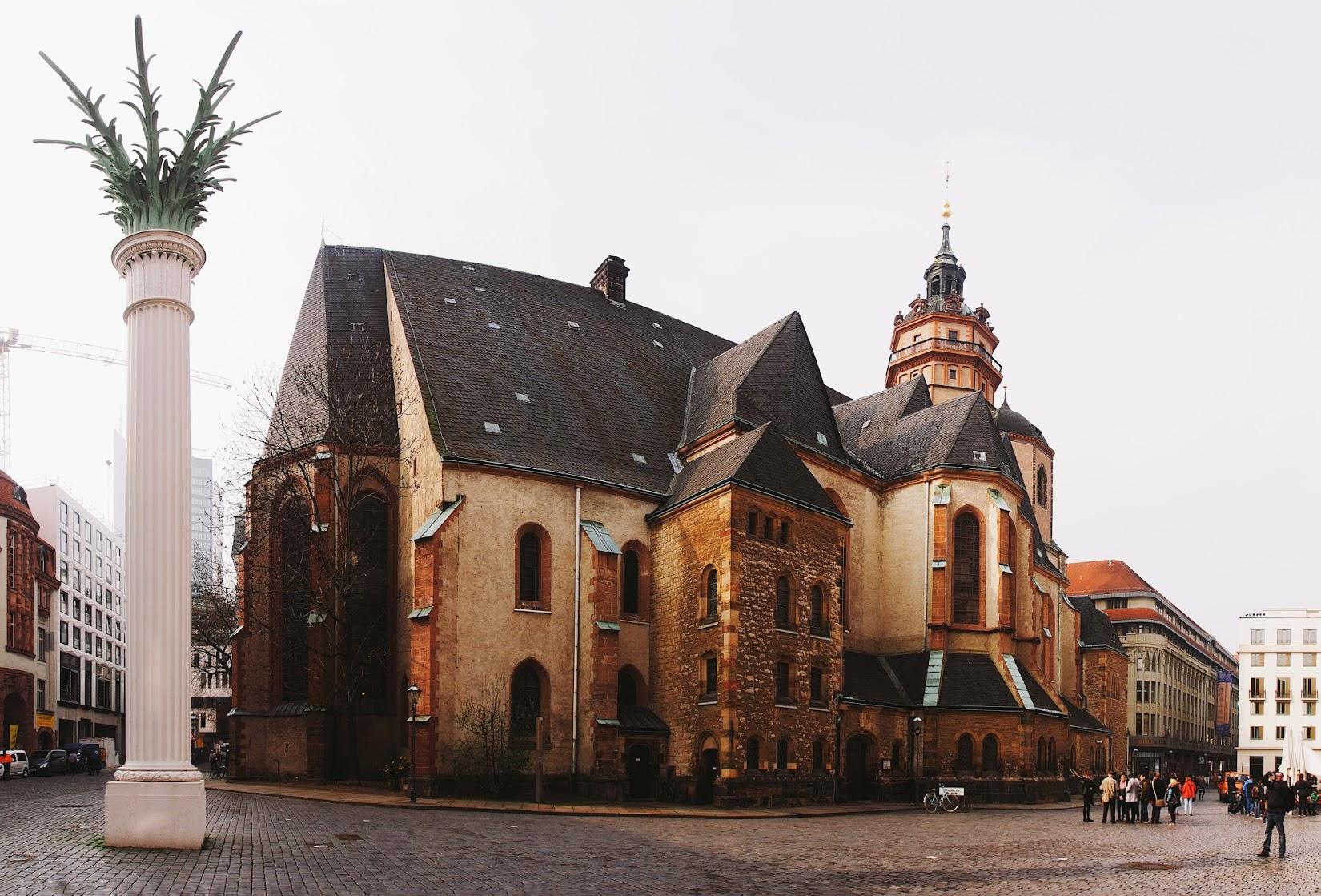 Nikolaikirche, Leipzig, Germany by Pat David
