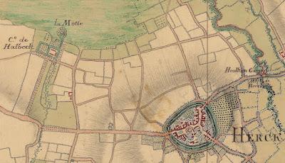 1748, Villaret; Halbeek met verwijzing naar motte