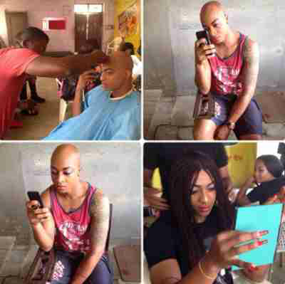 Checkout these evil transformation photos ofIK Ogbonna and Nancy Isime