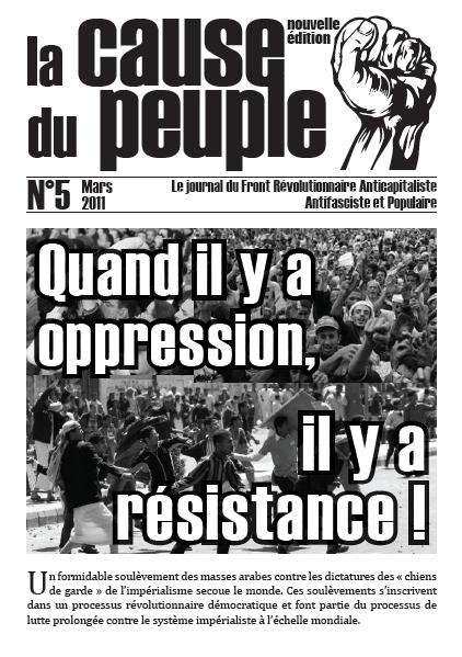 La cause du peuple (version PCMF) Cdp_5_une
