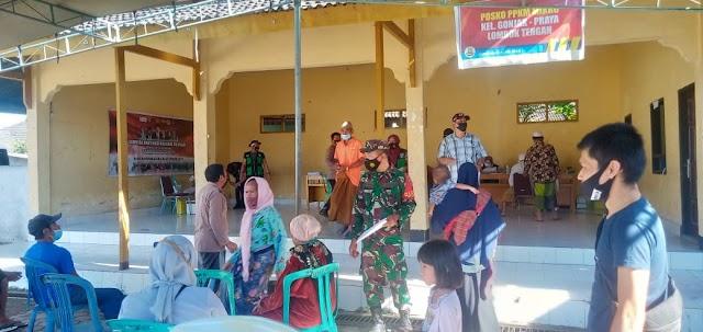 Satgas TNI-Polri Gencarkan Serbuan Vaksinasi Kepada Masyarakat Di Lombok Tengah