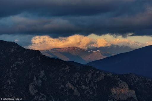 Vista del Pallars Sobirà des de la serra de Peracalç.Pirineus.Pallars Sobirà, Lleida,