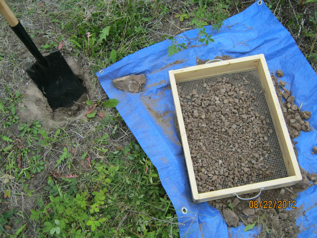 Here is an example of a SGS Shovel Test Pit (STP). The purpose of a STP is to test the area for cultural remains or to determine the boundary or extent of a known site.