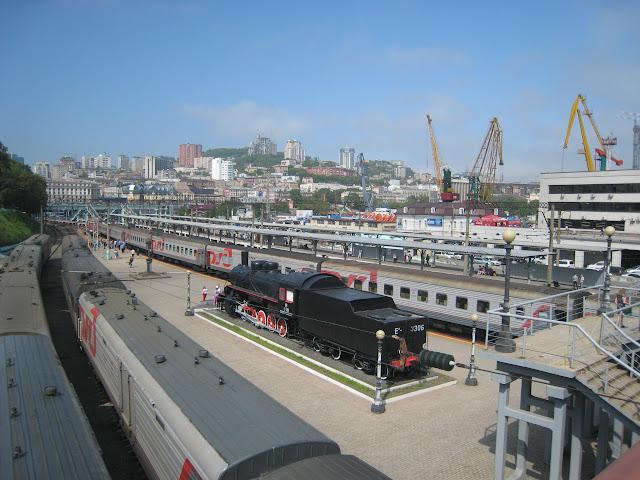 Vladivostok : la gare du transsibérien, 20 juin 2011. Photo : G. Charet
