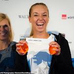 STUTTGART, GERMANY - APRIL 16 : Sabine Lisicki at the 2016 Porsche Tennis Grand Prix draw ceremony