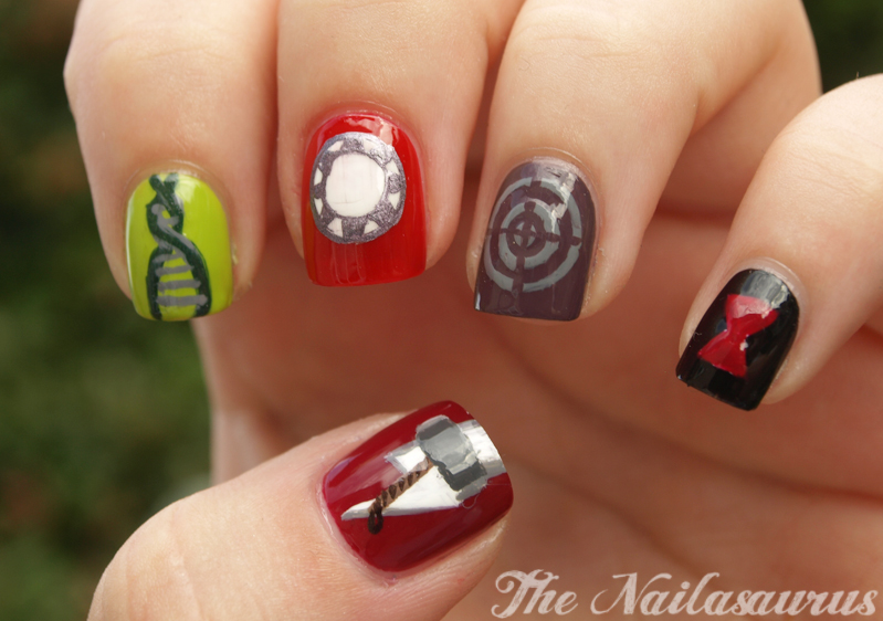 Some Assembly Required Avengers Nail Art The Nailasaurus Uk