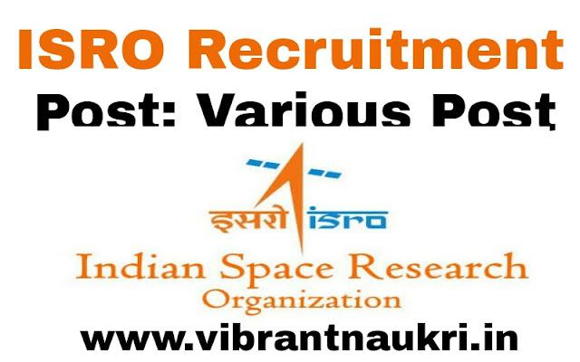 ISRO Recruitment 2017   80 Mechanical Engineer, Electronics