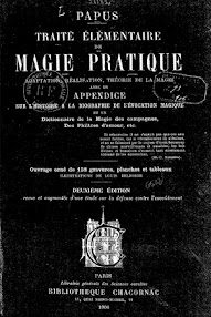 Cover of Papus's Book Traite Elementaire de Magie Pratique (1906,in French)