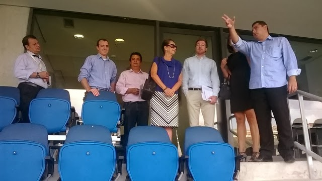 Natal: Comitiva do Consulado dos Estados Unidos visita o estádio Arena das Dunas