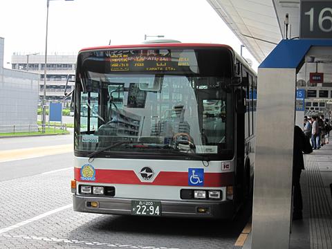 羽田京急バス「蒲95シャトルバス」 2294 <br /> 羽田空港第1ターミナルにて