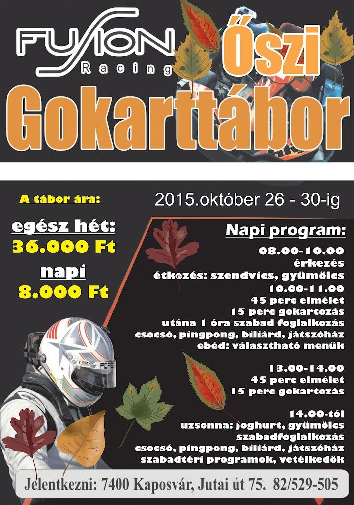 Őszi Gokart tábor 2015