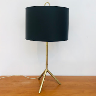 Brass Bamboo Tripod Lamp
