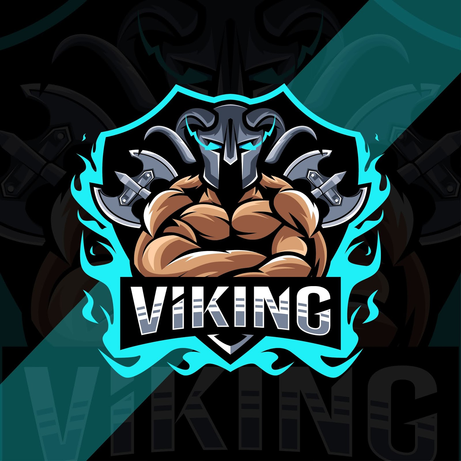 Viking Mascot Logo Template Design Free Download Vector CDR, AI, EPS and PNG Formats