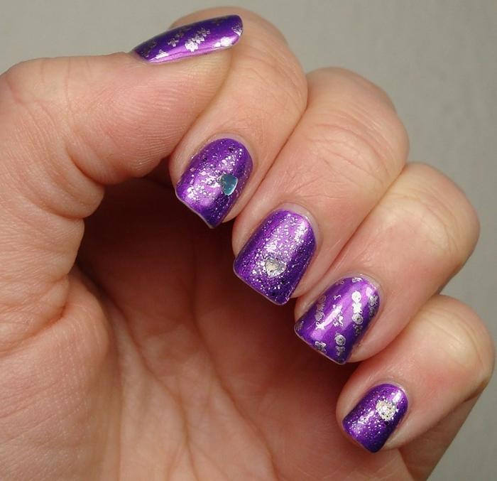 Latest Black And Purple Acrylic Nails Colors 2016 Fashionte