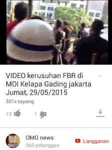 Youtube: Video Kerusuhan di MOI