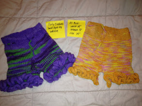 Photo: Left are $25. Right are $10 because color ran and legs have an unravel (see next pic) Girly Customs. Identical. Hand Dyed and Made by a WAHM