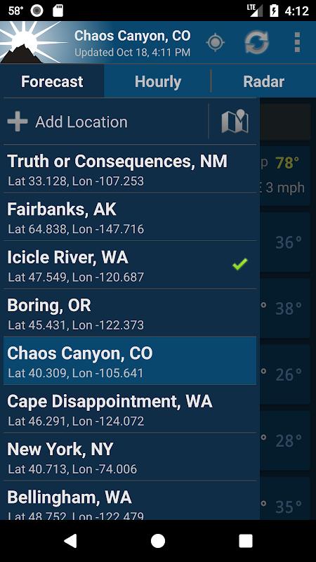 NOAA Weather Unofficial screenshots