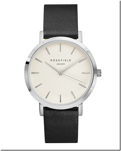 Rosefield Watch - The Gramercy White Black