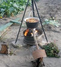 Photo: Pierwsze gotowanie w bograczu w Rawiczu na działce - bigos