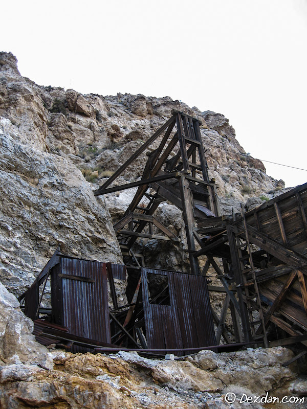 Another view of the headframe and blacksmiths shop.