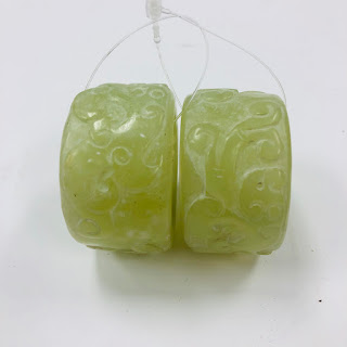 Jade Napkin Ring Pair