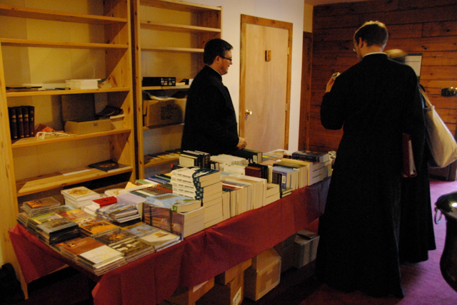 The SVS Bookstore does a brisk business!