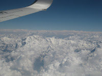 Flying over the Himalaya