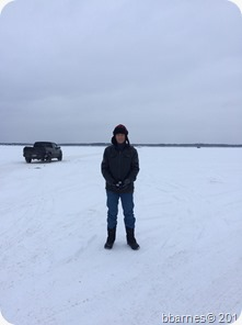 Dave on Lake Bemidji 01022018